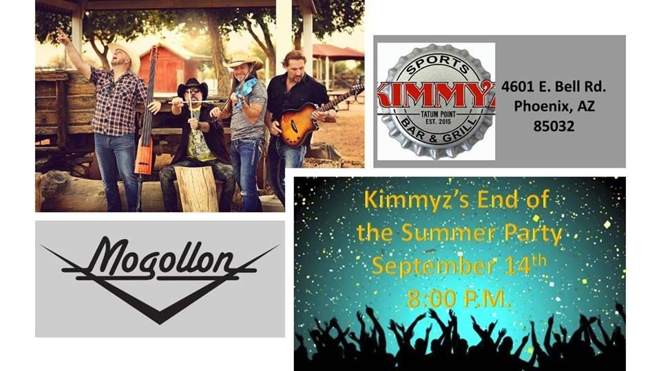 Mogollon End of Summer Party - Live Music in Phoenix - Kimmyz Tatum Point