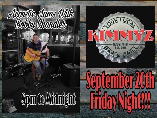 Friday September 20th 2019 Bobby Chandler Live Music Phoenix Kimmyz Tatum Point