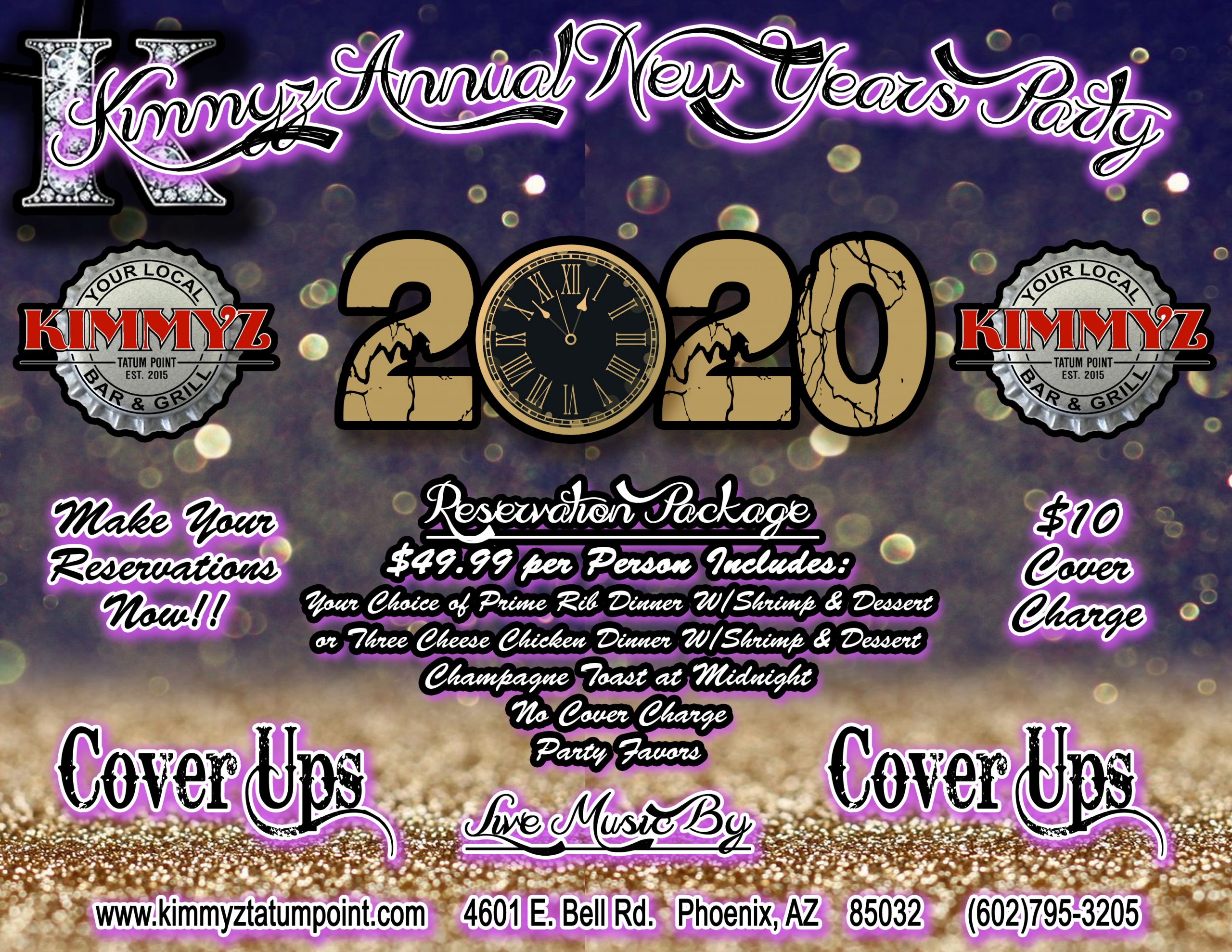 New Years Party 2020 Phoenix - Kimmyz Tatum Point