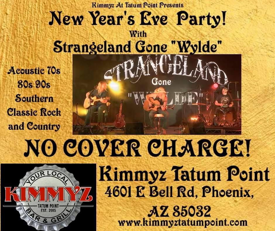 New Year's Eve Party in Phoenix December 31st 2020 at Kimmyz Tatum Point