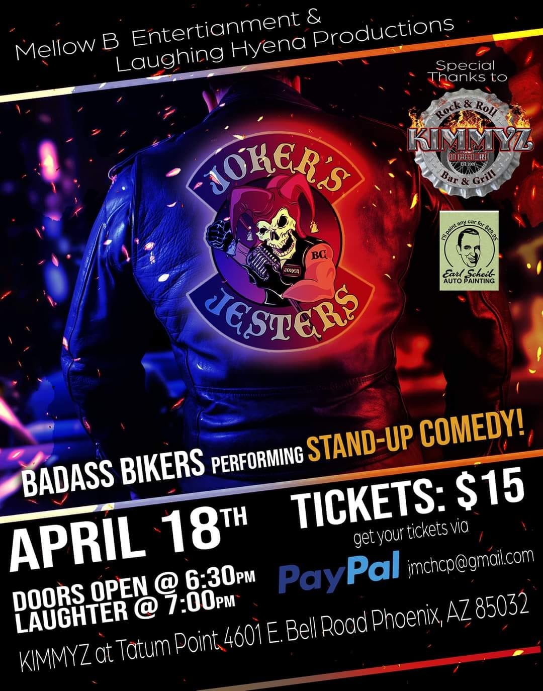 Sunday April 18th 2021 Jokers Jesture Comedy Show at Kimmyz Tatum Point